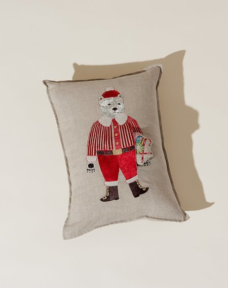 Coral & Tusk Polar Bear Santa Pocket Pillow
