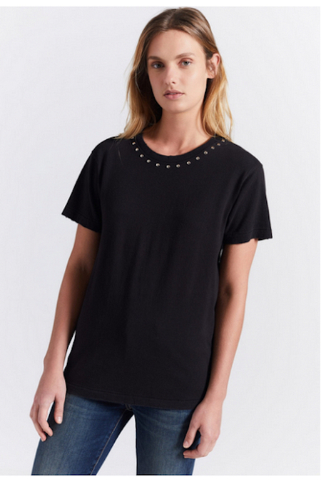 Current/ Elliott Glitter Rock Tee - BLACK