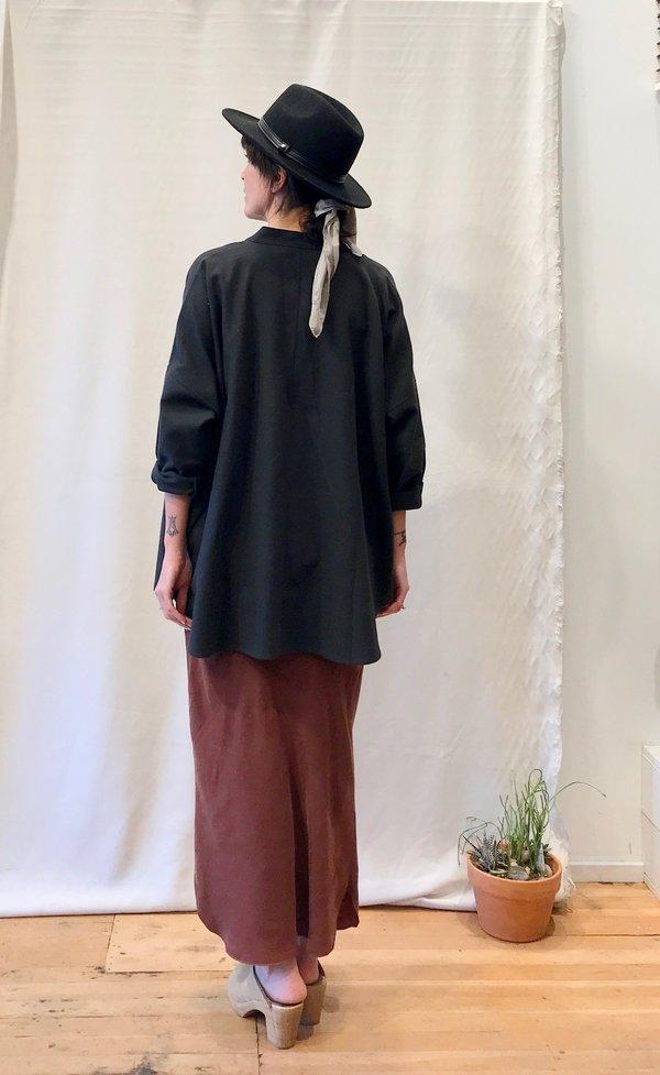 Black Crane Square Shirt - Dark Grey