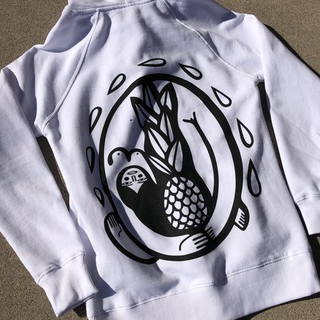 Unisex Fortoul Brothers Pineapple Hoodie - White