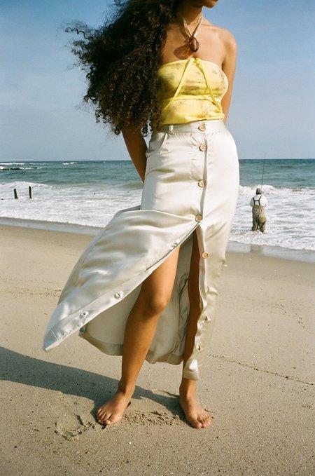 Baserange Button Skirt - Silver