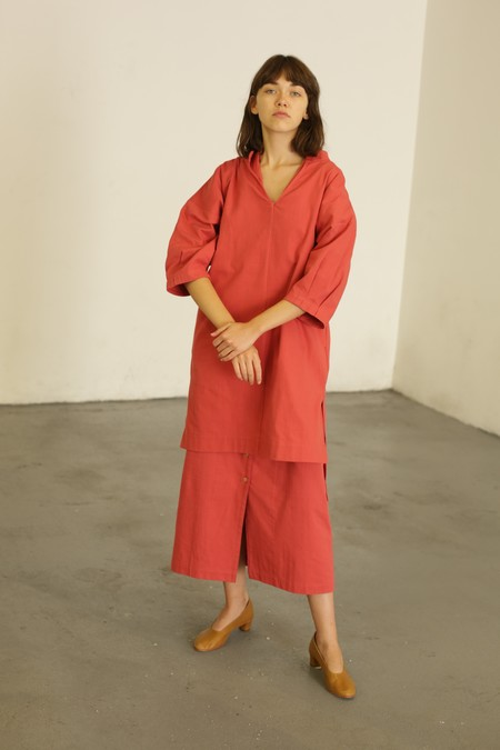 Ilana Kohn Ava Dress - Cherry Twill