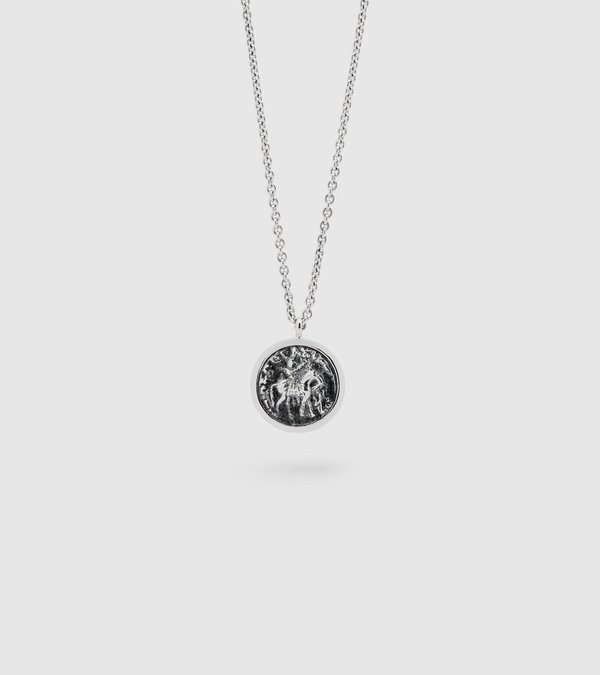 Tom Wood Coin Pendant - sterling silver on Garmentory