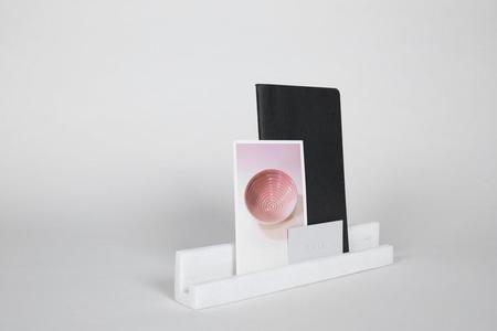 "Yield 12"" Block - White Marble"