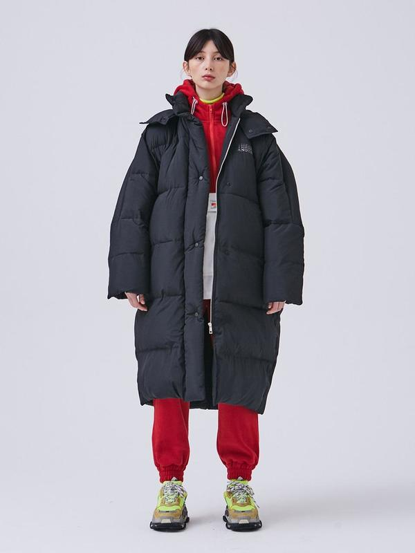 3cbafb9c9 Another A Oversized Long Down Jacket - Black on Garmentory