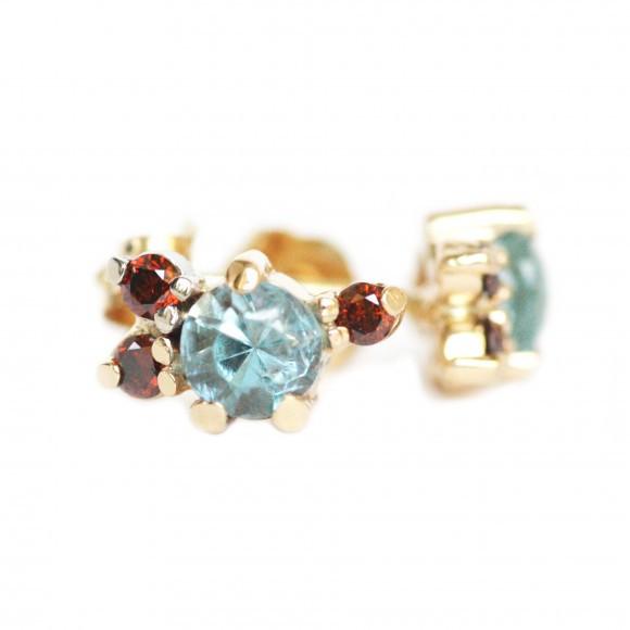 Mociun Stone Cluster Earrings