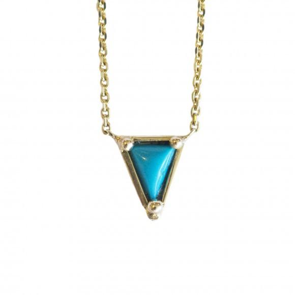 Mociun Turquoise Triangle Necklace