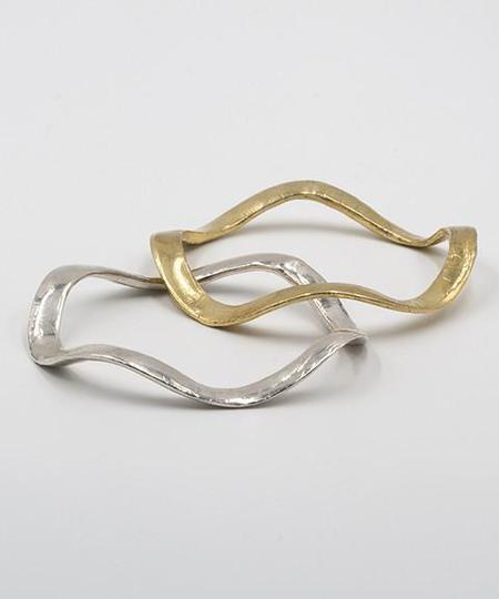 open house projects Wavy Bracelet - BRASS