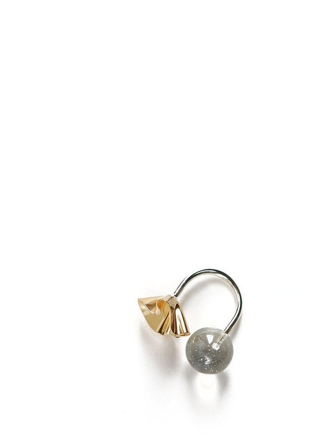 Tiro Tiro Fil Ring - sterling silver/brass/quartz