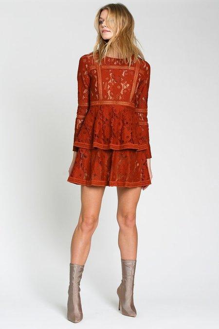dRA Clothing Spanish Steps Dress - burnt amber
