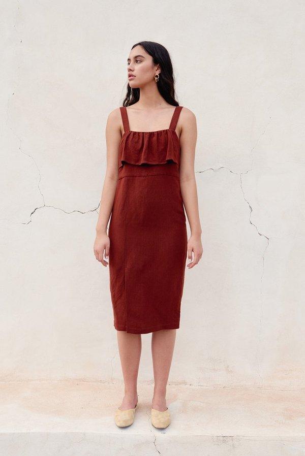 6f65f7be1c First Rite Rust Ruffle Dress - Rust