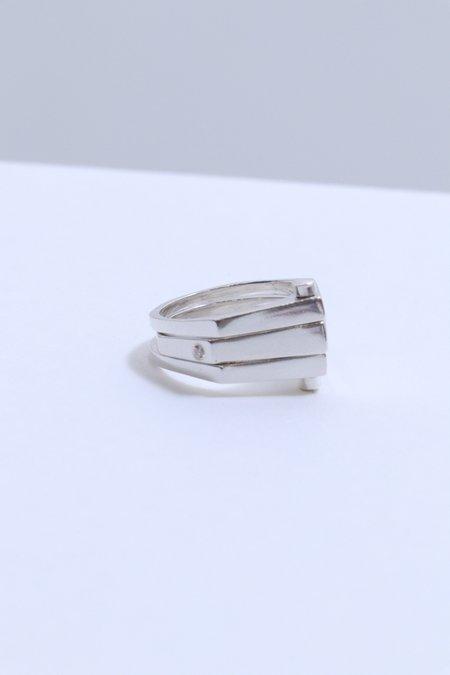 M33Ms Triple Rivet Ring - Sterling Silver