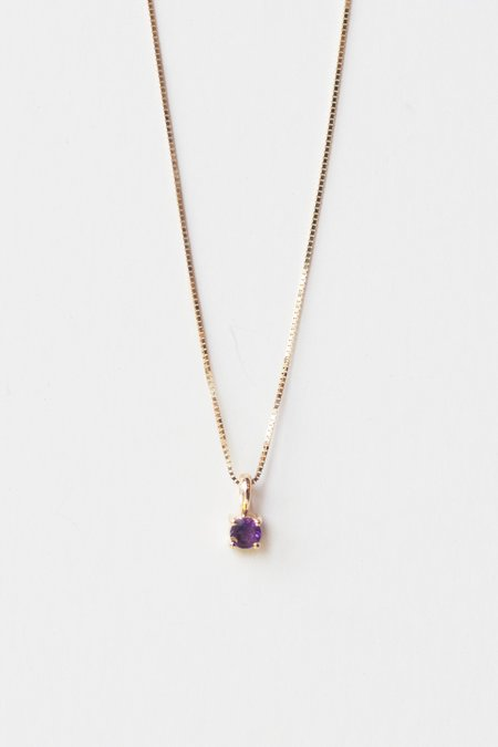 Leah Alexandra Element Necklace - Amethyst