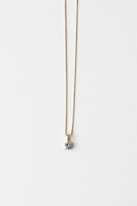 Leah Alexandra Element Necklace - Aquamarine