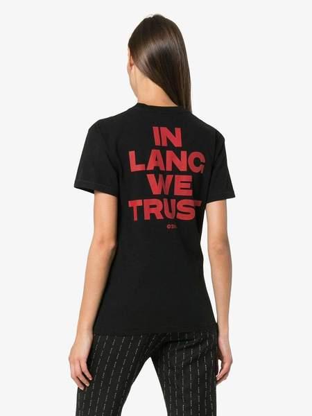 HELMUT LANG In Lang We Trust T-Shirt - Black