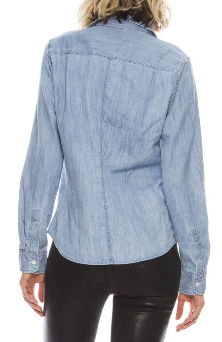 Frank & Eileen Barry Stonewashed Denim Shirt - INDIGO