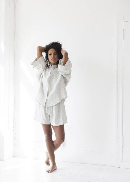 Deiji Studios The 03 Sleepwear Set - Pinstripe