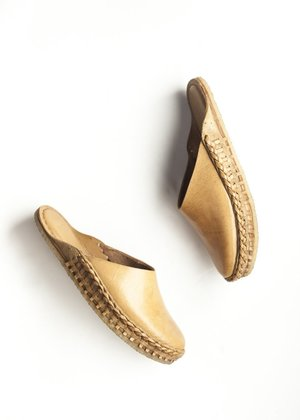 e771a7bca1ad Mohinders Solid Leather City Slippers - Natural