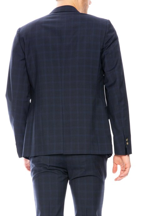 EDITIONS M.R. Checkered Jacket - Navy