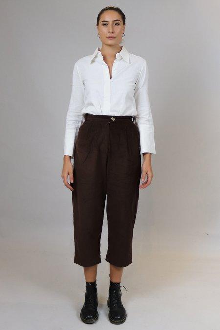 House of Sunny Corduroy High-Waisted Pants - Brown