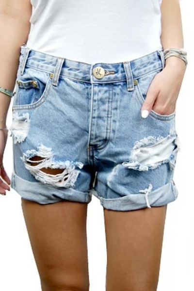 ONE TEASPOON Charger Shorts | Whiskey