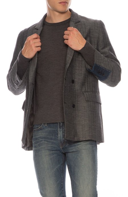 78 STITCHES Double Breasted Blazer - Anthracite