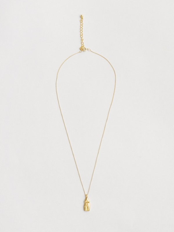 Wolf Circus Woman Vase Necklace - Gold