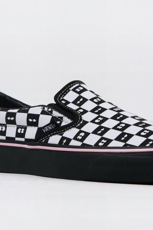 7e6a3807c2 VANS X Lazy Oaf Classic Slip-On - checkerboard eyeballs