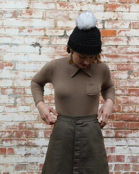 Samantha Pleet Cafe Bodysuit in Tan