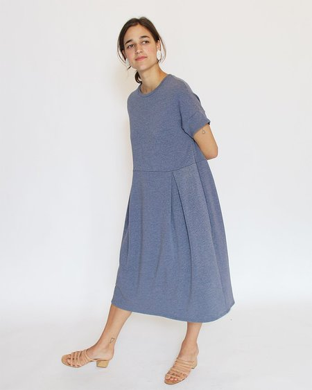 Corinne Finola Pleat Dress - Chambray