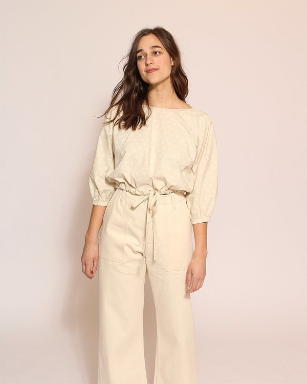 Esby Marie Prairie Blouse in Natural