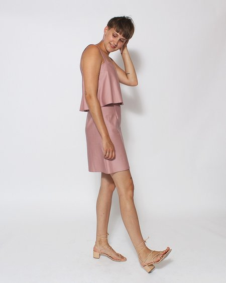 Dusen Dusen Tiered Tank Dress - Rose