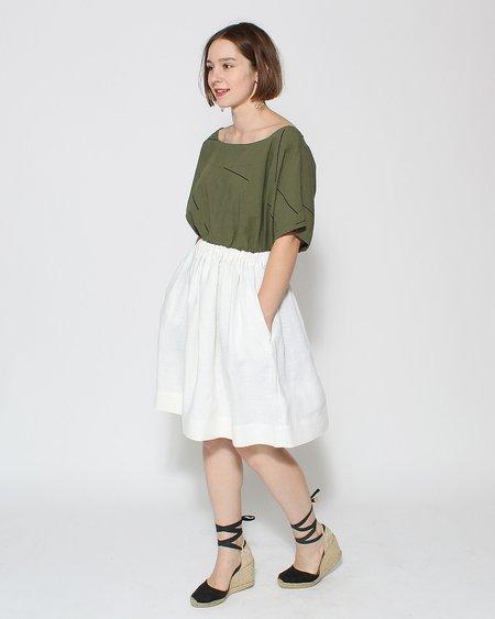 Le Vestiaire de Jeanne Uniform Collection Skirt - White