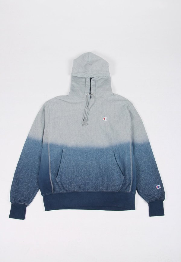 52c44537d Champion Dip Dye Reverse Weave Hoodie - imperial indigo/oxford grey on  Garmentory