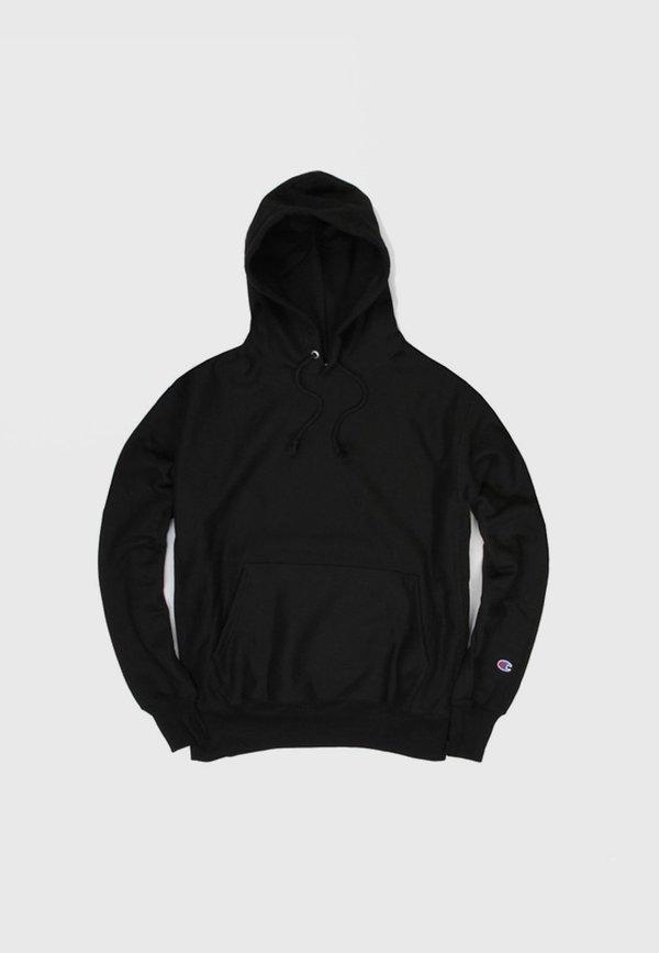 Unisex Champion Blank Reverse Weave Hoodie - Black  c7addfe4f9ec
