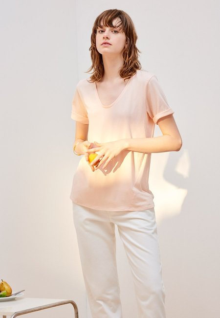 Kowtow Building Block V T-Shirt - Light Pink