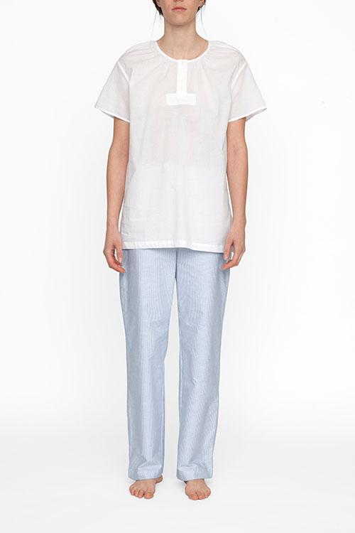 The Sleep Shirt Short Sleeve Nightshirt White Voile