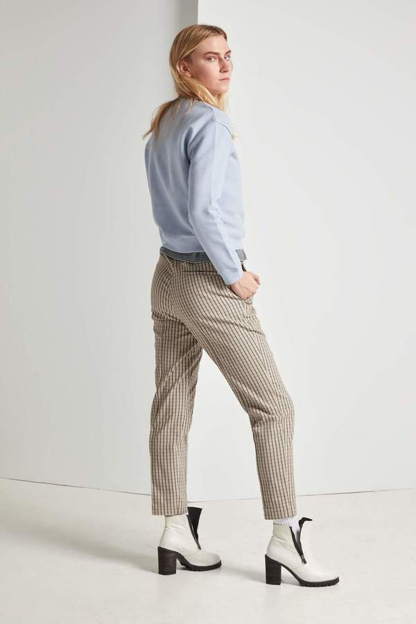 Frisur Tekla Drawstring Trouser Plaid On Garmentory
