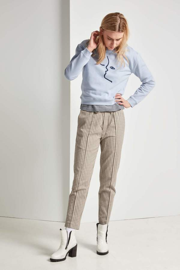 Frisur Tekla Drawstring Trouser Plaid
