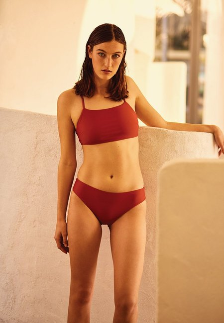 Kowtow Swim Classic Waisted Brief - Sienna