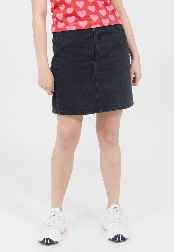 8fe7822bd5 Rollas High Mini Denim Skirt - Chrissy Black | Garmentory