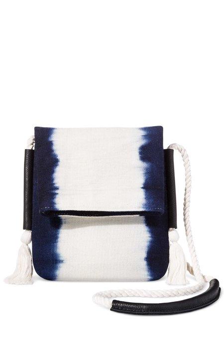 Mercado Global Exclusive Dip-Dye Crossbody - Navy/White