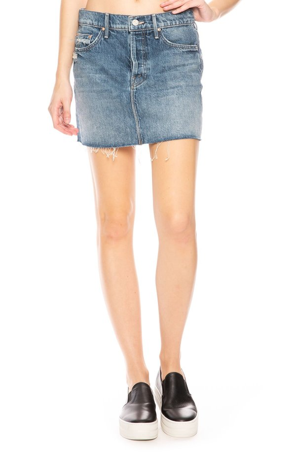 Mother denim vagabond mini skirt - lightning strikes