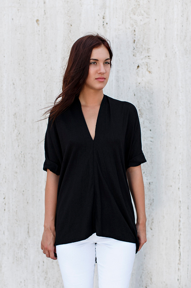 Miranda Bennett Flash Sale Black Muse Top - Silk
