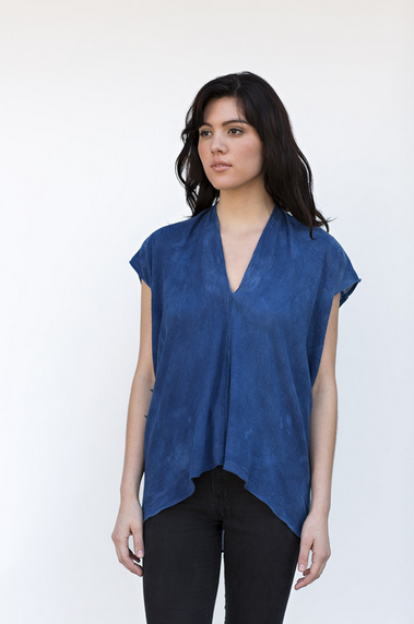 Miranda Bennett Indigo Everyday Top - Cotton