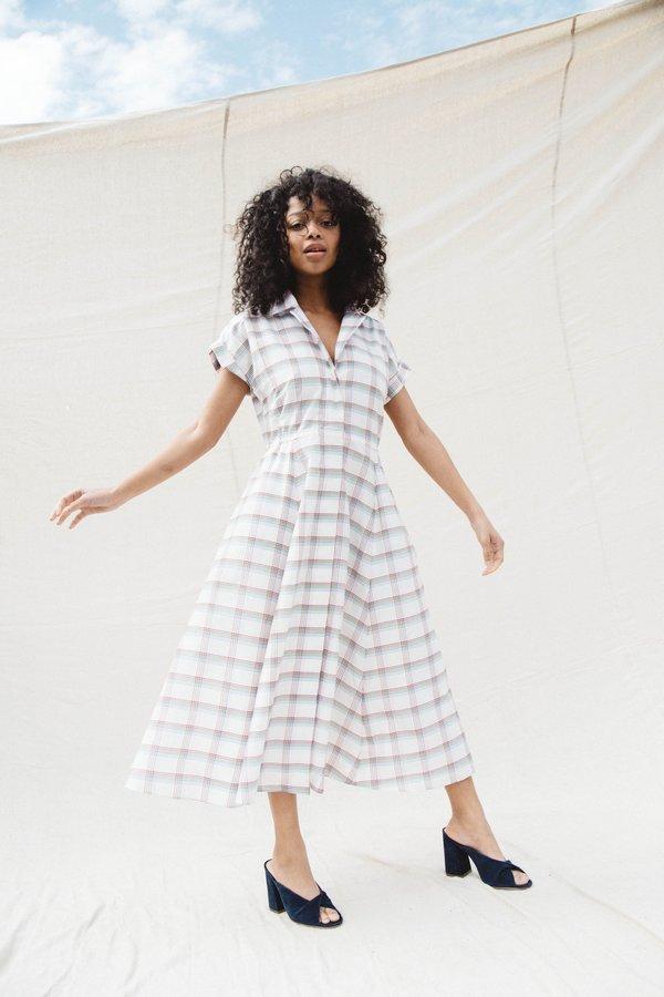 Nikki Chasin RALLY DRESS - PRIMARY PLAID