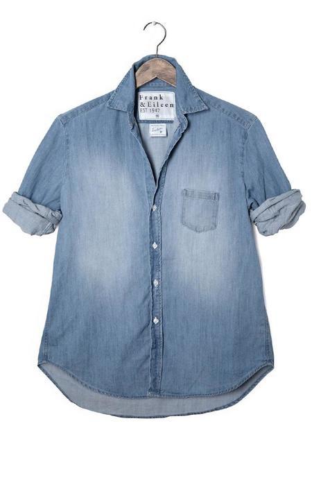 Frank & Eileen Womens Eileen Italian Denim Shirt - Indigo