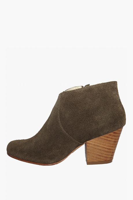 Fortress of Inca Adriana Coco Olive Suede