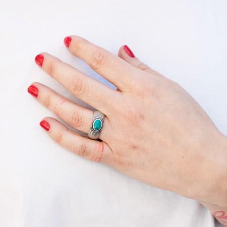 Hotel Baalbek Berber Ring - Silver/Turquoise