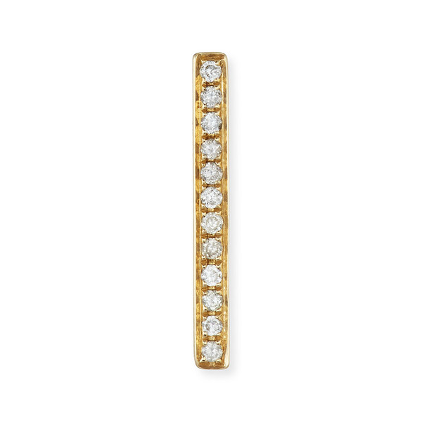 SYDNEY EVAN PAVÉ DIAMOND BAR STUD EARRINGS